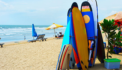 boards at beach