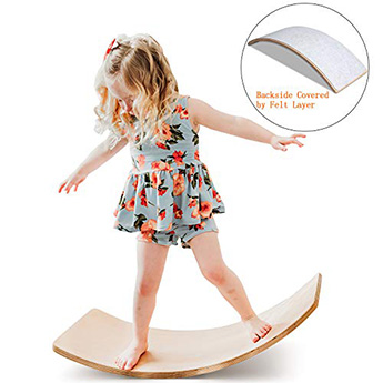 FUNNY SUPPLY Wooden Balance Board