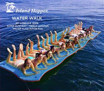 Floating Island Hopper Water Mat