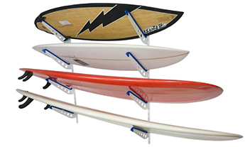 Metal Surfboard Home Wall Mount Rack